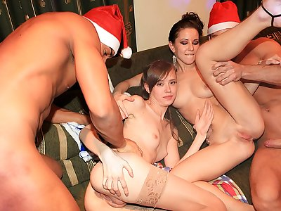 Wonderful student go kinky at New Year party