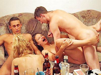 Hardcore college girl ass fucking hook-up at college bash